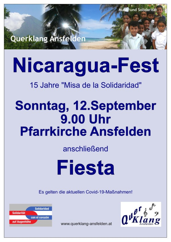 Plakat für das Nicaragua-Fest