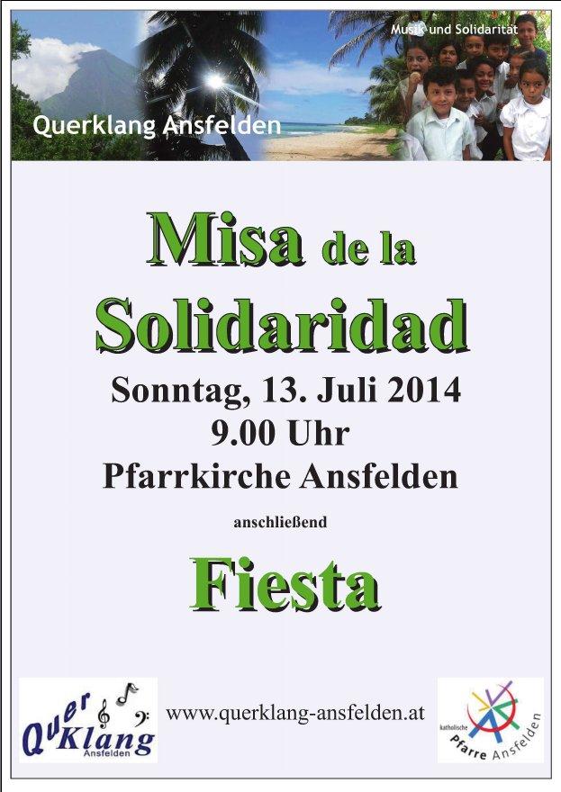 Plakat Misa- und Querklangfest in Ansfelden 2014